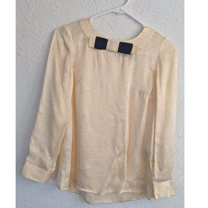 Marc by Marc Jacobs  Pale Gold Blouse with Bow